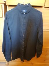 Navy Mens Fred Perry Shirt Size 36 XS