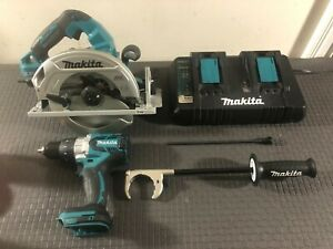 MAKITA 18-V LXT Li-Ion 1/2 in. XPT Hammer Drill & 36-V  7-1/4 in. Circular Saw