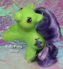 HQG1C Custom G1 MLP Style Playful Baby Pony 💜 FLIPPER 💜 w Accessories! GREEN