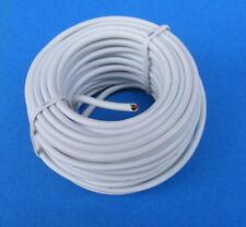 0,12€/m Kabel Telefonleitung rund weiß 4x0,5mm 40m = 4 Rollen a.10m