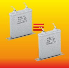 4 uF 300 V STRONG MATCHED PAIR RUSSIAN PAPER IN OIL PIO AUDIO CAPACITORS MBGO-2