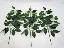 Pack of 3 Artificial Ficus Leaf Branch - 59cm - Decorative Branches