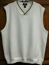 New Antigua Sz Xl Beautiful Sleeveless Cream Colored Golf Sweater Cotton/ Poly