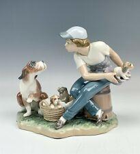 New ListingRetired Lladro Spain This One's Mine 5376 Porcelain Boy & Puppy Figurine Nr Nld