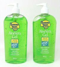 2 x Banana Boat Aloe Vera Skin Care GEL 453g LARGE  Pump Dispenser Bottle