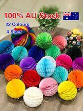 Tissue paper pom pom honeycomb ball lantern wedding party home decor AU Stock