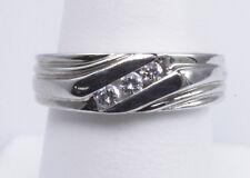 White Gold Size 7 3/4 Wholesale Diamond Band Channel Set Low Profile 14K