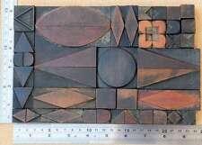 letterpress wood printing blocks ornaments decorative borders vintage geometric.