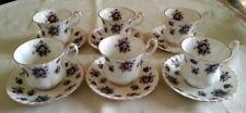 Royal Albert Sweet Violets Servizio 6 tazze tazzine caffè porcellana inglese