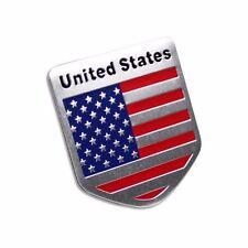 Car Racing Sports US USA American Flag Shield Emblem Badge Decal Sticker