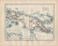 1902 MAP ~ NEW GUINEA SHOWING POSSESSIONS NEU POMME BISMARCK ARCHIPELAGO