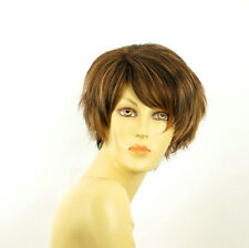 short wig for women smooth chocolate copper wick clear ref: ROMANE 627c PERUK