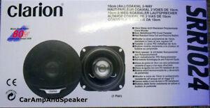 "4""  2-way Coaxial 80 Watt Clarion SRR1024,Car Audio Speakers Pair Brand New"