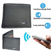Leather Bluetooth Smart Wallet Anti Lost Finder GPS Locator Tracker GB
