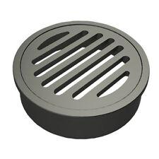 100*100mm Floor Waste Round Shape Matt Black Durable for Bathroom