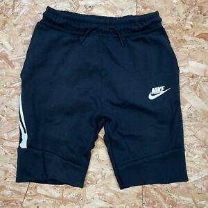 Boy's Black Sweatpant Style Nike Sports Shorts Ages 12-13 Years Large Zip Pocket