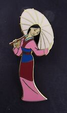 Disney Trading Pin Mulan with Umbrella Parasol Pink Kimono 2001 Hair Down 7969