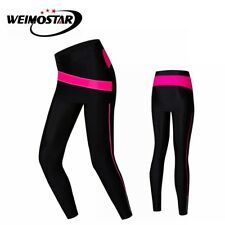 Women New Bike Pants Cycling Gel 3D Padded Pants Tight Bicycle Long Trouser