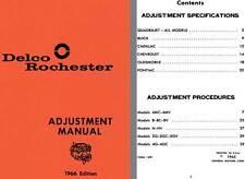Delco Rochester 1966 - Delco Rochester Adjustment Manual 1966 Edition