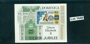 #1640-DOMINICA-Silver Jubilee Miniature Sheet-MNH-1977