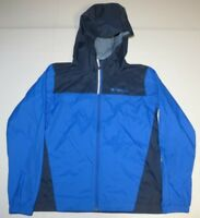 Boy Columbia Hoodie Windbreaker Waterproof Rain Zip Up Jacket Youth Medium Blue