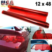 JDM 12X48 Red Tint Vinyl Film Wrap Sheet for Honda Acura Tail Light Backup Light