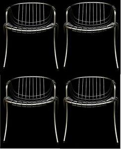 Set Of Four 4 Chairs Lynn Design gastone rinaldi For rima padova Years 70