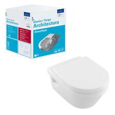 Villeroy & Boch Architectura Tiefspül WC spülrandlos ohne Spülrand Set mit Sitz
