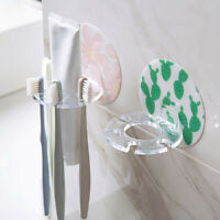 AM_ Bathroom Toothpaste Toothbrush Rack Wall Storage Shelf Organizer Holder