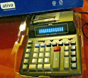 ATIVA Desktop Printing Calculator AT-P3000 NOS Never Used- Box is rough- NEW!