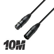 More details for roar 10m dmx cable xlr female - xlr male black 110 ohm 1000cm disco lighting dj
