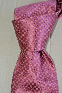 "$285 NWT STEFANO RICCI Mauve w/ self florals men's 3.5"" satin silk tie ITALY"