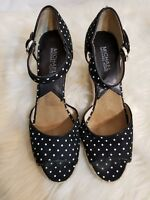 Michael Kors Polka dot ankle Strap Wedge Shoes Size 7.5