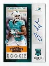 2013 Panini Contenders JAMAR TAYLOR Rookie Autograph - Miami Dolphins *MINT*