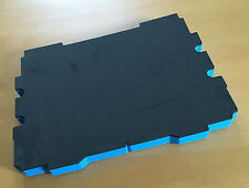 Koffereinlage Hart-Schaumstoff für Tanos FESTOOL systainer, gr. blau 30mm 3 Stk