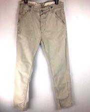 Levis Mens Tab Twills Pants Jeans 31 x 32 Beige Khakis Slouch Skinny Cotton