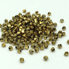 Lots 100pcs Spacer Loose Crystal Glass Bicone Beads 4mm Jewelry Making Findings