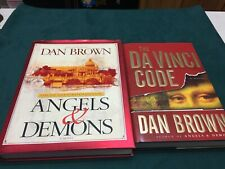 Lot of Two (2) Dan Brown Novels Angels & Demons and The Da Vinci Code Hardback