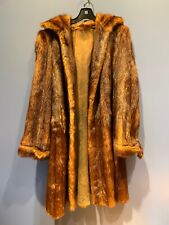 Vintage Fur Mink Coat, Some Small Balding Spots, Hand Sewn, Brown