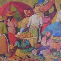 Puzzle peinture art vintage fait main IN Menton 1991 art déco XX PN France N2305
