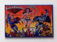 "SUPER FRIENDS Metal LUNCHBOX   2"" x 3"" Fridge MAGNET ART"