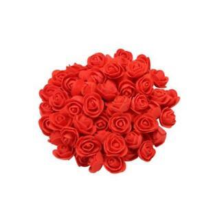 100pcs 2cm Pe Foam Rose Artificial Flower Bouquet Multicolor Rose Wedding Flower