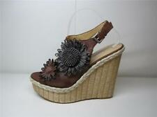 High (3 in. to 4.5 in.) Wedge Floral Heels for Women