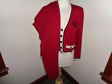ST JOHN COLLECTION RED Santana Knit Pants Suit Blazer Size S