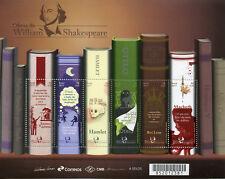 Brazil 2017 MNH Shakespeare Hamlet Macbeth 6v M/S Writers Literature Stamps