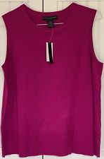 Grace Elements NWT 2X Sleeveless Fuchsia Magenta Rayon Blend Knit Tank Top $48