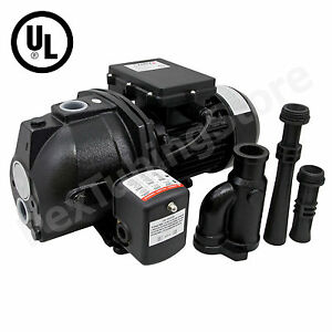 1/2 HP Convertible Shallow or Deep Well Jet Pump w/Pressure Switch, 115/230V