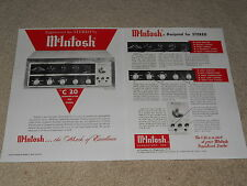 McIntosh C20 Tube Preamp Ad, 2 pg, Articles, Info, Beautiful Ad, 1959, Info