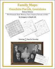 Family Maps Ouachita Parish Louisiana Genealogy LA Plat