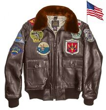 Blouson Aviateur Top Gun NAVY G-1 COCKPIT USA Ex Avirex G1 MADE IN USA